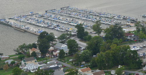 Aerial photo of Bowleys Marina