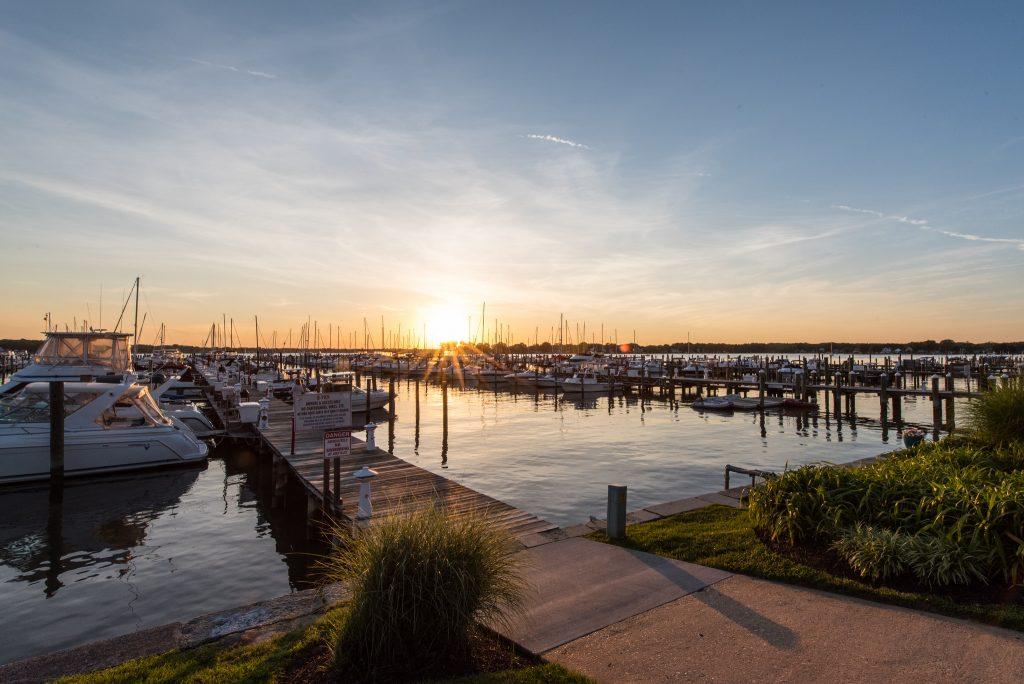 Bowleys Marina at Sunset