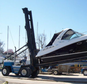 bowleys boat forklift