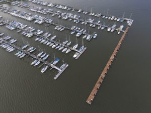 Second View of Fuel Dock at Bowleys Marina